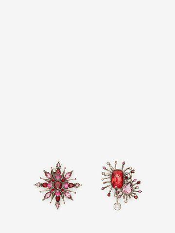 ALEXANDER MCQUEEN Asymmetric Rose Earrings Earring Woman f