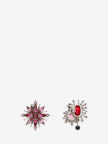 ALEXANDER MCQUEEN Asymmetric Rose Earrings Earring Woman r