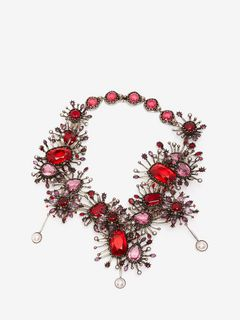 ALEXANDER MCQUEEN Necklace D Jeweled Rose Choker f