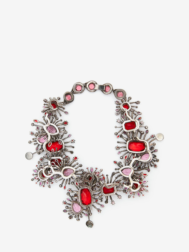 ALEXANDER MCQUEEN Jeweled Rose Choker Necklace D r