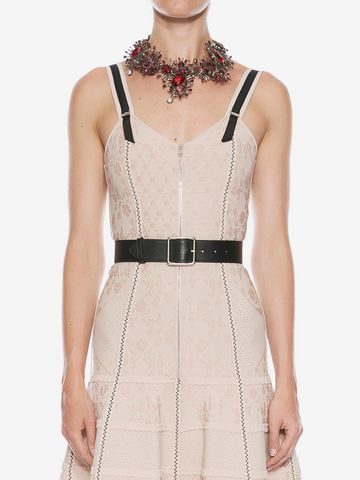 ALEXANDER MCQUEEN Jeweled Rose Choker Necklace D e