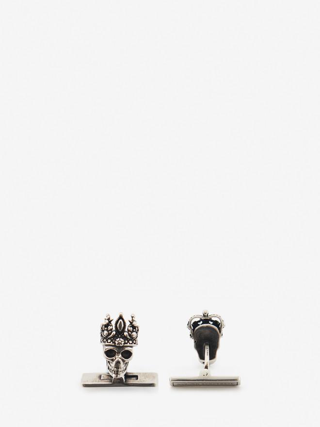 Alexander McQueen King and Queen skull cufflinks VJ552aHRiC