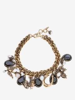 ALEXANDER MCQUEEN Necklace D Charm Necklace f