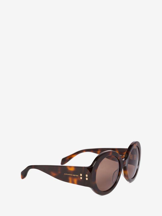 Mini Mujer gafas sol de Stud Alexander montura D redonda con Mcqueen AfWUzw765