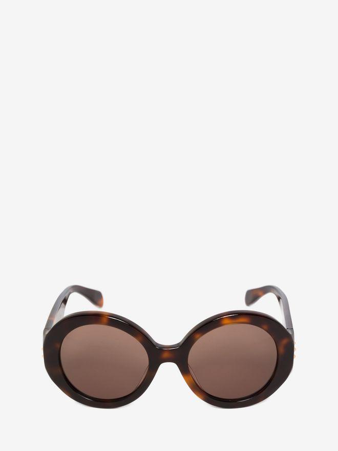 ALEXANDER MCQUEEN MINI STUD ROUND FRAME Sunglasses D f