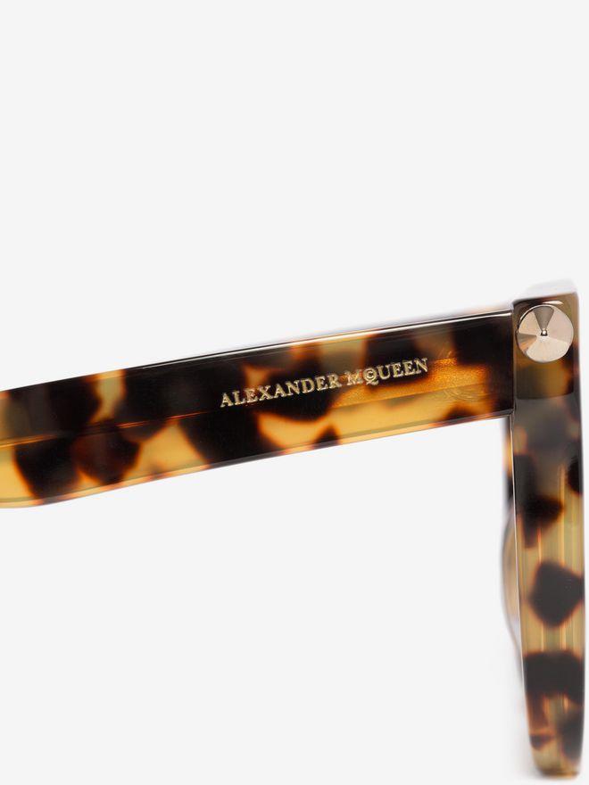 ALEXANDER MCQUEEN PIERCING BAR ROUND FRAME  Sunglasses D e