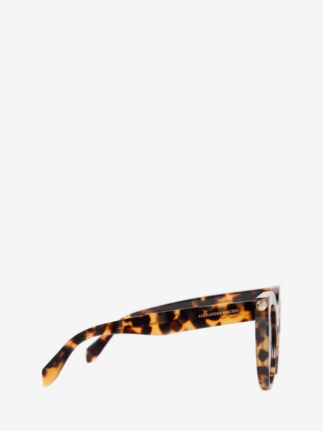 ALEXANDER MCQUEEN PIERCING BAR ROUND FRAME  Sunglasses D r