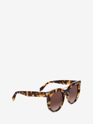 ALEXANDER MCQUEEN PIERCING BAR ROUND FRAME  Sunglasses D d