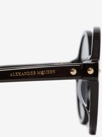 ALEXANDER MCQUEEN Mini Rivets Round Frame Sunglasses D e