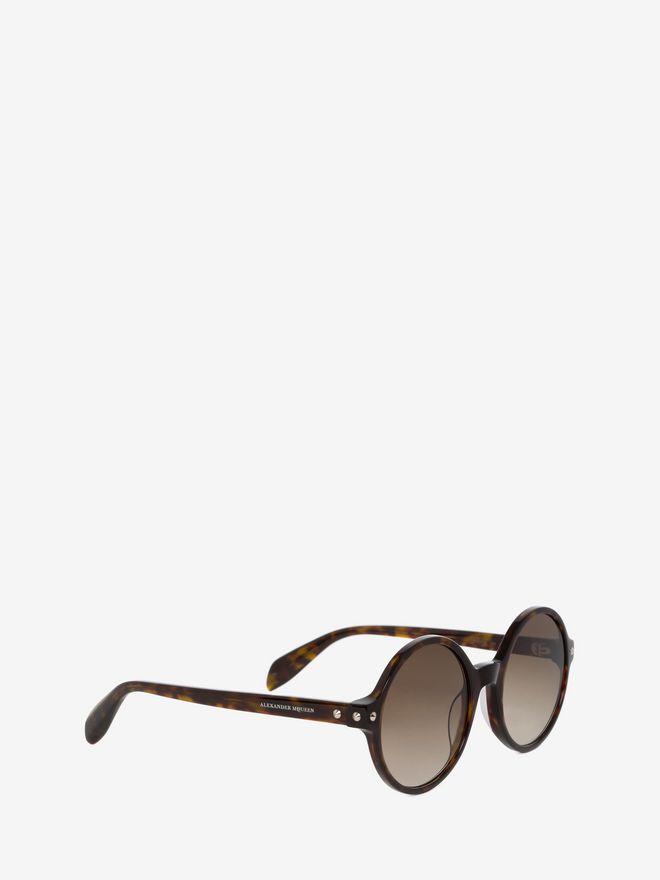 ALEXANDER MCQUEEN Mini Studs Round Frame Sunglasses D d
