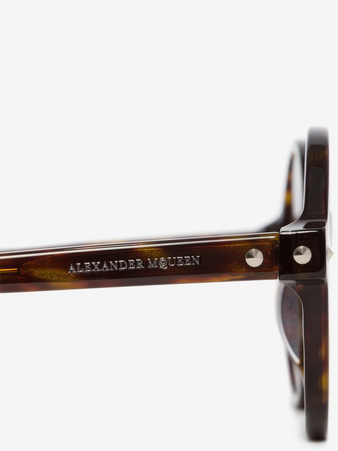 ALEXANDER MCQUEEN Mini Studs Round Frame Sunglasses D e