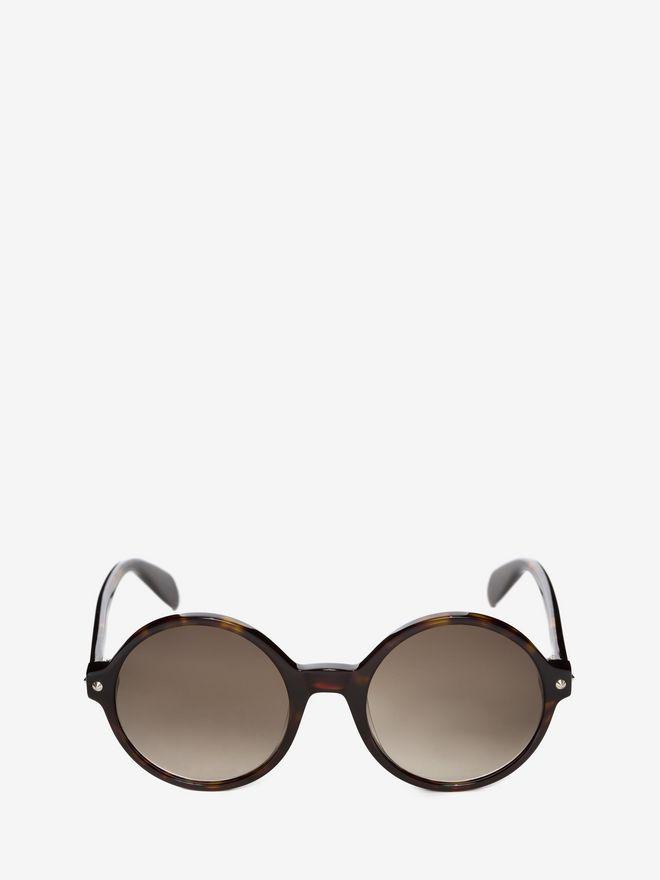ALEXANDER MCQUEEN Mini Rivets Round Frame Sunglasses D f