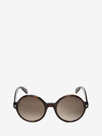 ALEXANDER MCQUEEN Mini Studs Round Frame Sunglasses D f