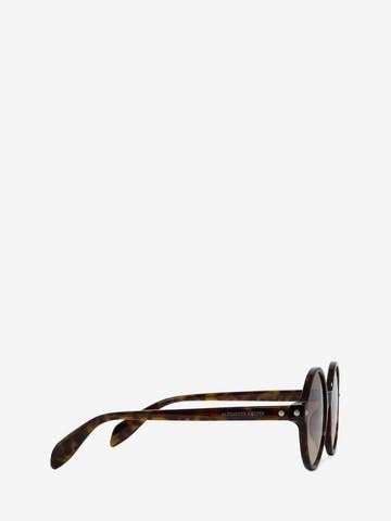 ALEXANDER MCQUEEN Mini Studs Round Frame Sunglasses D r