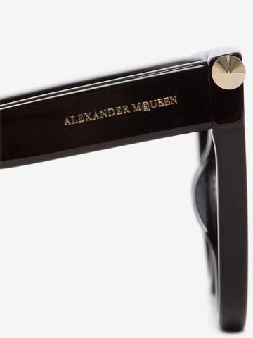 ALEXANDER MCQUEEN Piercing Shield Frame Sunglasses D e