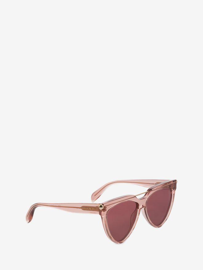 ALEXANDER MCQUEEN Piercing Shield Frame Sunglasses D d