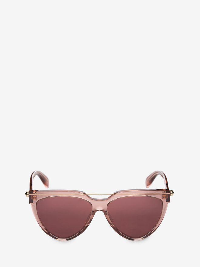 ALEXANDER MCQUEEN Piercing Shield Frame Sunglasses D f