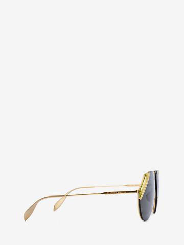 ALEXANDER MCQUEEN Cut Lens Pilot Frame Sunglasses E r