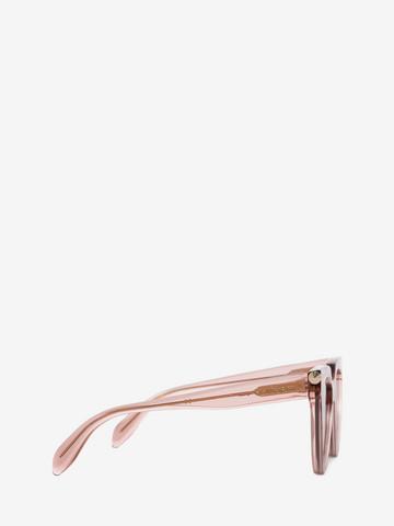ALEXANDER MCQUEEN Piercing Shield Frame Sunglasses D r