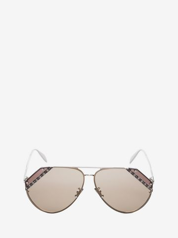 ALEXANDER MCQUEEN Jeweled Cut Lens Frame Sunglasses D f