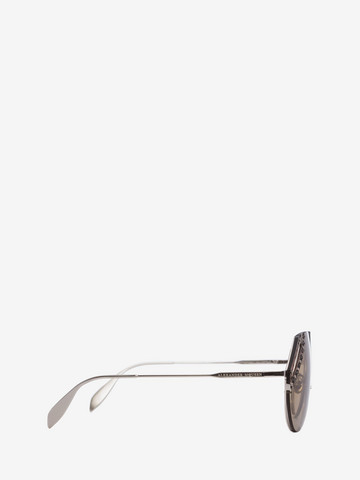 ALEXANDER MCQUEEN Jeweled Cut Lens Frame Sunglasses D r