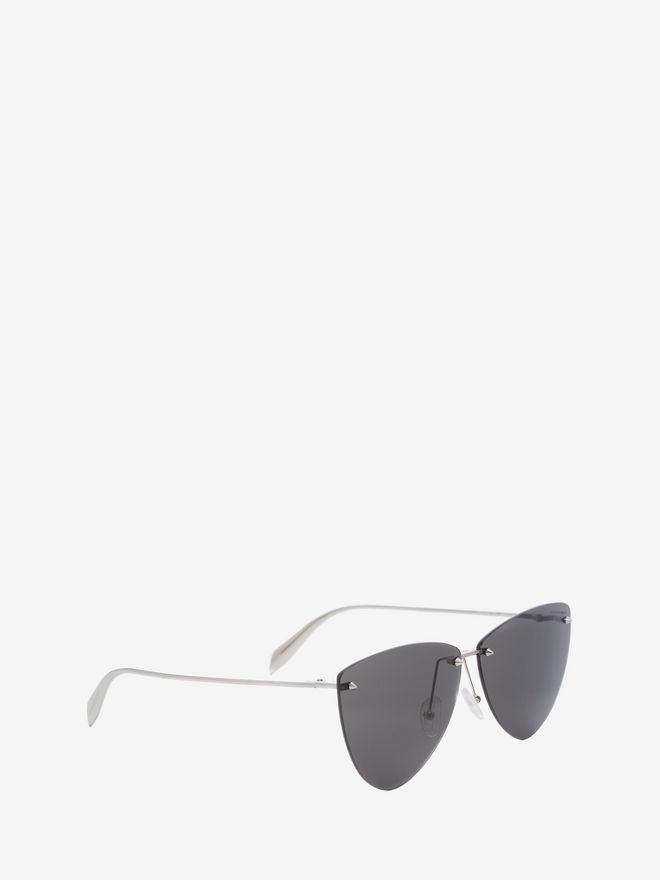 ALEXANDER MCQUEEN Piercing Rimless Frame Sunglasses Woman d
