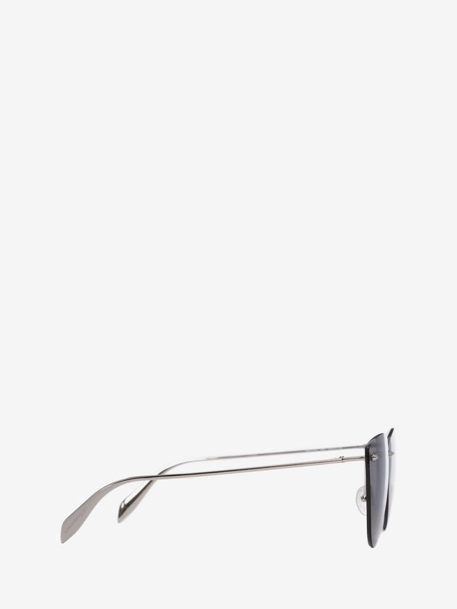 ALEXANDER MCQUEEN Piercing Rimless Frame Sunglasses Woman r
