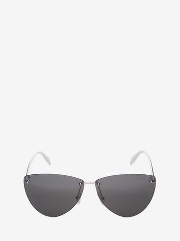 ALEXANDER MCQUEEN Piercing Rimless Frame Sunglasses Woman f
