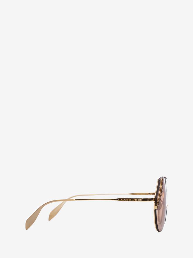 ALEXANDER MCQUEEN Jeweled Cut Lens Frame Sunglasses Woman r