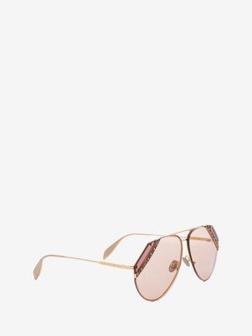 ALEXANDER MCQUEEN Jeweled Cut Lens Frame Sunglasses Woman d