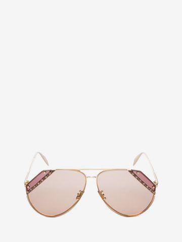 ALEXANDER MCQUEEN Jeweled Cut Lens Frame Sunglasses Woman f