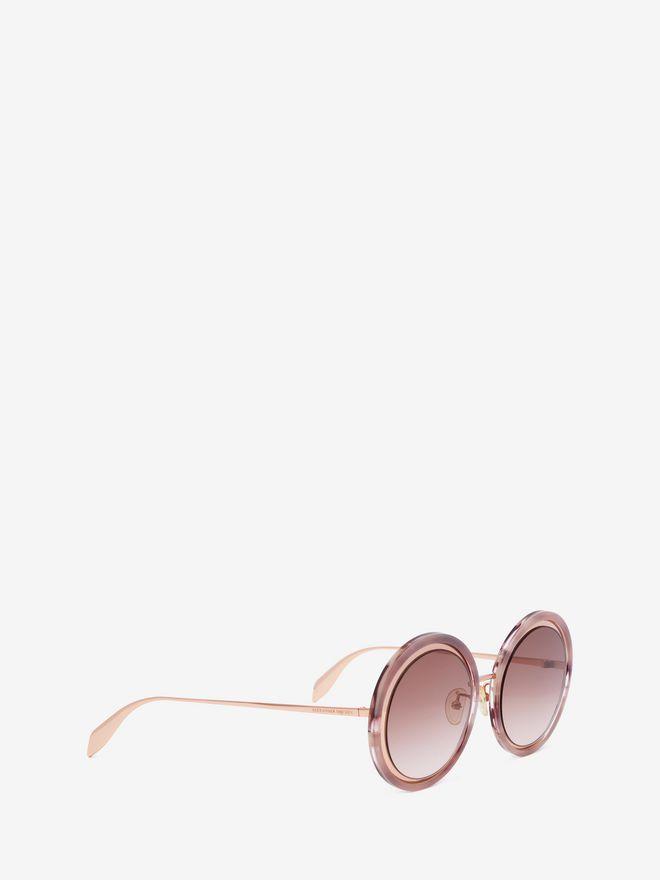ALEXANDER MCQUEEN Sculpted Metal Frame Sunglasses Woman d