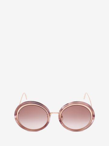 ALEXANDER MCQUEEN Sculpted Metal Frame Sunglasses Woman f