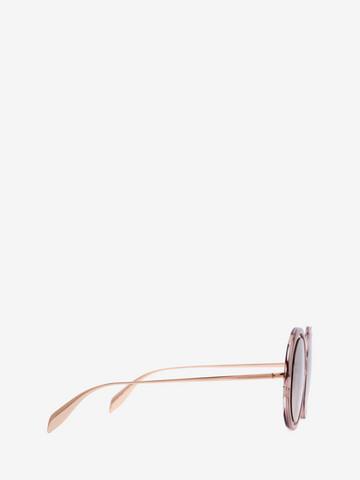 ALEXANDER MCQUEEN Sculpted Metal Frame Sunglasses Woman r